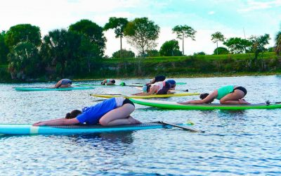 SUP Yoga for Beginners: taking the first paddle